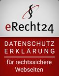eRecht 24 Siegel Datenschutz ©Goodcop / eRecht24
