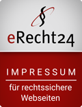 eRecht 24 Siegel Impressum ©Goodcop / eRecht24